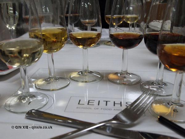 Leiths dessert wine tasting