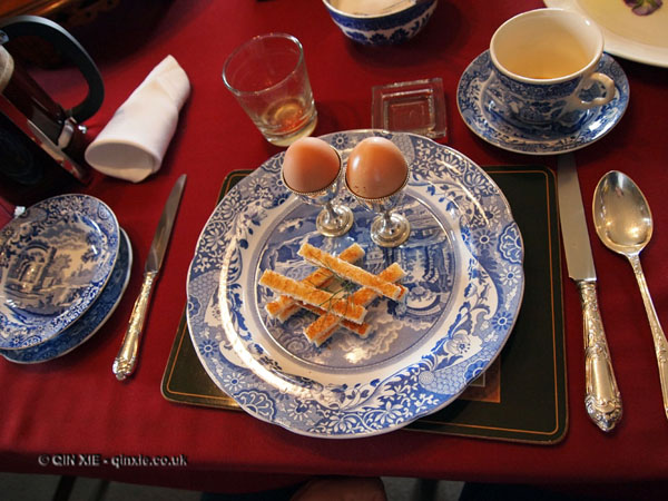 Egg and soldiers for breakfast at Balfour Castle