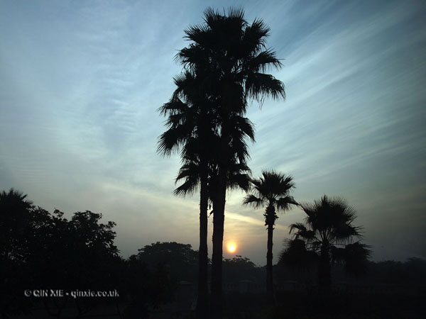 Breaking dawn in New Delhi