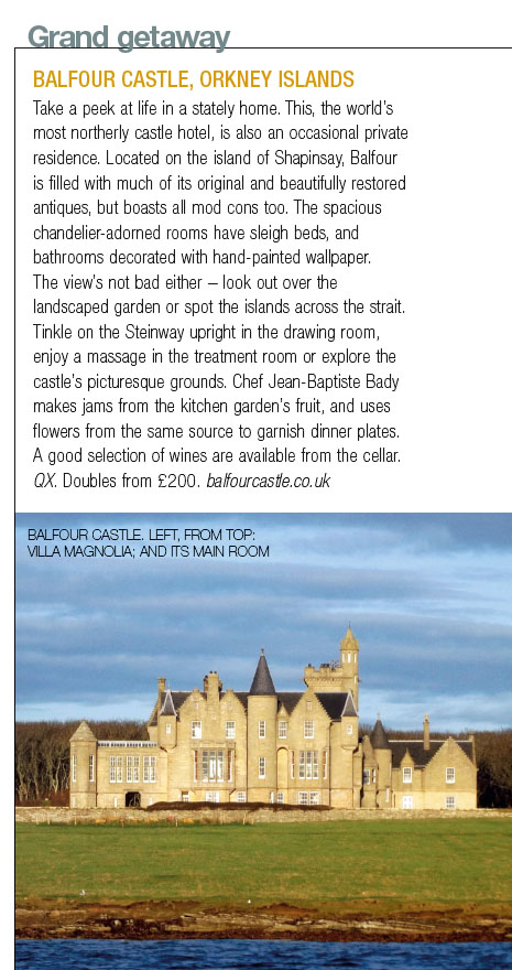 Balfour Castle in Food and Travel