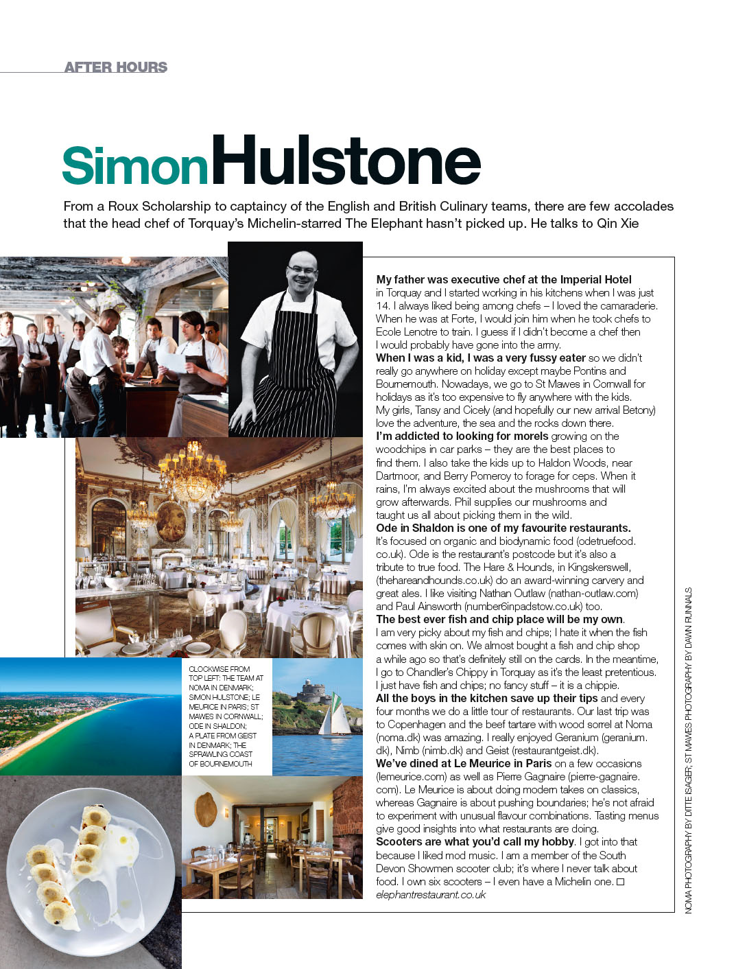 Simon Hulstone in Food and Travel