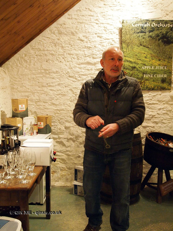 Andy Atkinson of Cornish Orchard Cider in Cornwall