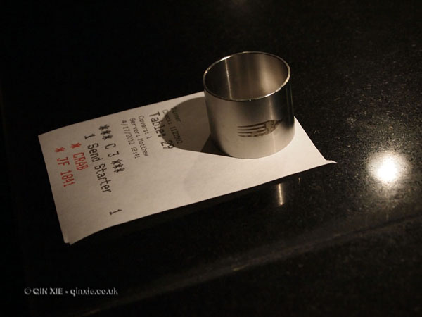 Order check, Dinner by Heston Blumenthal