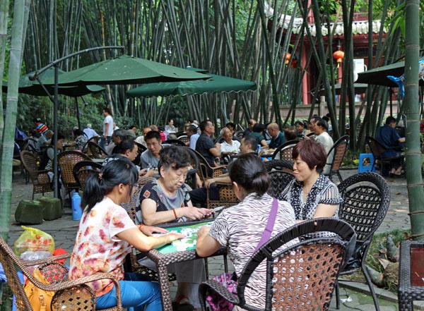 Qin Xie Playing mahjong Cultural Park