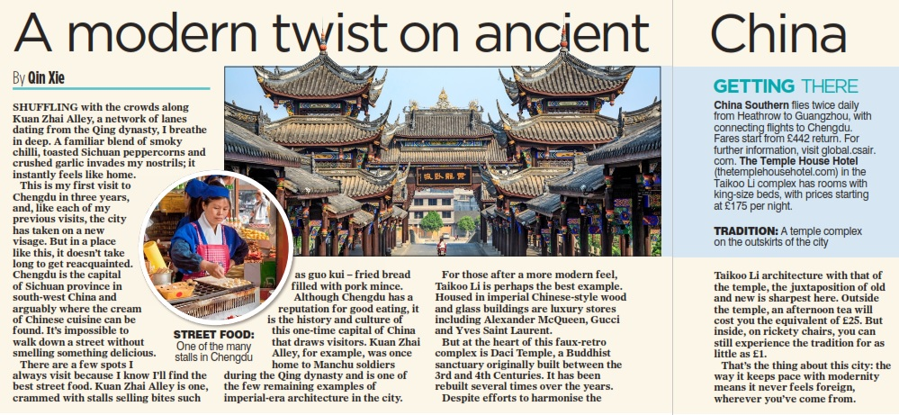 Qin Xie Chengdu Mail on Sunday