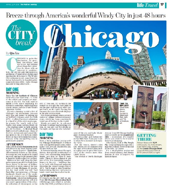 Qin Xie Chicago Mail on Sunday